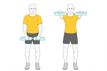 Elevació frontal braços mantingud